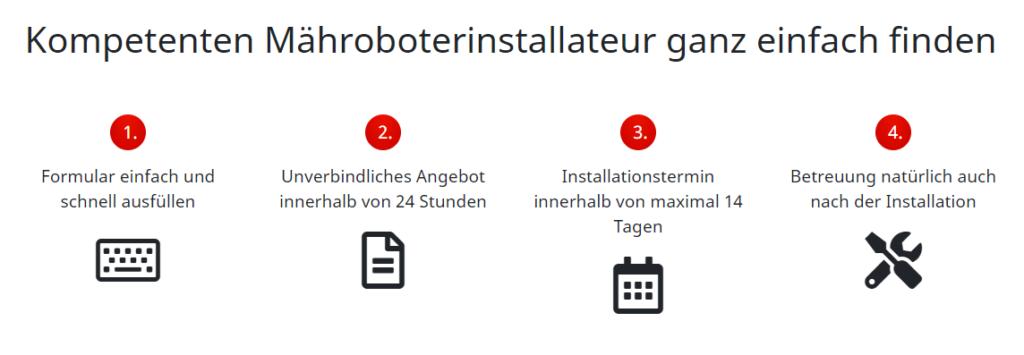 Mähroboter installieren lassen - Installationsservice