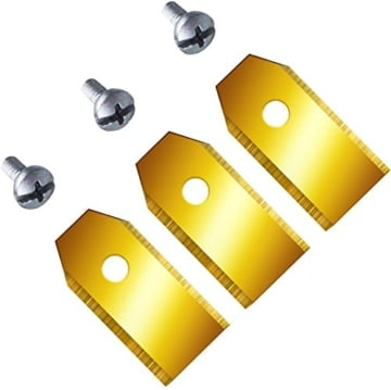12 Ersatzmesser (0,6mm) extrahart für Husqvarna Automower & Gardena mit funktionaler Titan-Karbid Beschichtung