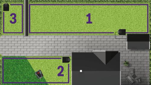 MultiArea Memory-Funktion für Rasenflächen - mehrere Gartenflächen mähen